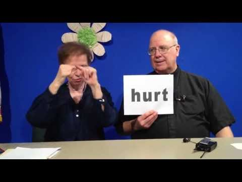 St. Rita teaches signs for hurt