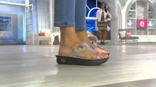 getlinkyoutube.com-Alegria Leather Thong Sandals w/ Adj. Strap - Carina with Jane Treacy