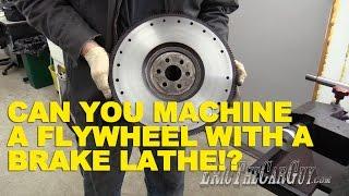 getlinkyoutube.com-Can You Machine a Flywheel with a Brake Lathe??
