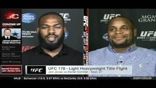 getlinkyoutube.com-Jon Jones & Daniel Cormier react to media brawl LIVE on Sportscenter 8/4/14