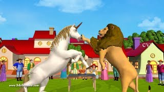 getlinkyoutube.com-The Lion and the Unicorn -3D Animation English Nursery rhyme for children