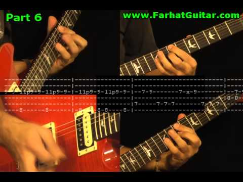 Can´t Stop - Guitar Cover Part 6/6 Red Hot Chilli Pepper www.FarharGuitar.com