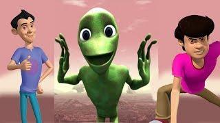 Alien Dance with Gattu Battu l Dame Tu Cosita Dance Challenge l Learn Colors and Song for Kids