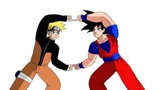 getlinkyoutube.com-Fusion Project: Goku and Naruto (Version 2)