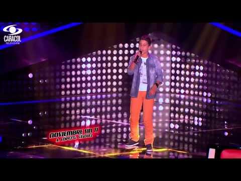 Daniel cantó 'Noviembre sin ti' de Reik – LVK Colombia – Audiciones a ciegas – T1