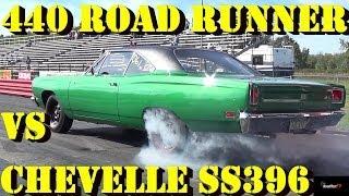 getlinkyoutube.com-Rare 440 - 6 Pack Road Runner vs Chevelle SS 396 - 1/4 Mile Drag Race -  Road Test TV