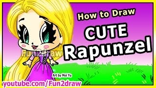 getlinkyoutube.com-How to Draw Disney Princesses & Characters - Rapunzel from Tangled - Fun2draw Art Drawing Lessons