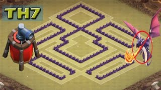 getlinkyoutube.com-Clash of Clans - TH7 War Base 2015 - Best Townhall 7 War Base With Air Sweeper