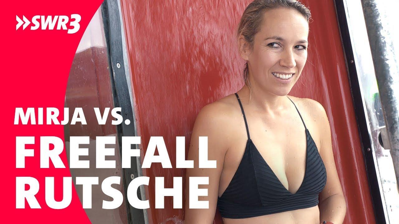Mirja vs. Freefall-Rutsche; Foto: SWR3
