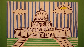 getlinkyoutube.com-Let's Draw the Capital Building in Washington DC!