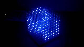 getlinkyoutube.com-8x8x8 LED Cube Demo 48 Animations