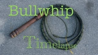 getlinkyoutube.com-8 ft. Paracord Bullwhip ( TimeLapse )
