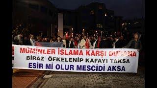 Karabük Üniversitesi, akademisyen ve öğrencileriyle Kudüs'e destek için yürüdü