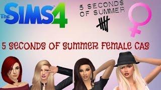 getlinkyoutube.com-THE SIMS 4 CAS: 5SOS Female Version