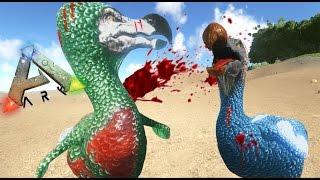 getlinkyoutube.com-DODOS GLADIADORES!! BATALLA A MUERTE -  ARK survival Evolved #6 - Nexxuz