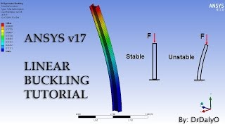 getlinkyoutube.com-ANSYS 17 - Linear Buckling I-Beam Tutorial