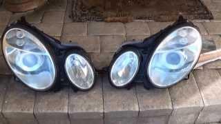 getlinkyoutube.com-Mercedes E Class W211 Headlight Restoration