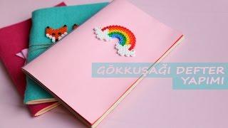 getlinkyoutube.com-Gökkuşağı Defter Yapımı | KENDİN YAP | DIY | Rainbow Notebook