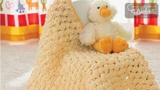 getlinkyoutube.com-How to Crochet A Baby Blanket: Puffy Baby Afghan