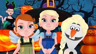 getlinkyoutube.com-FROZEN JUNIOR - Halloween Party 2015  ▌YOUNG ELSA & ANNA ▌EPISODE 1