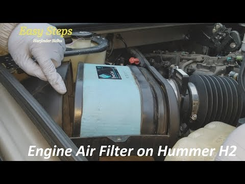 How To Clean Engine Air Filter on HUMMER H2