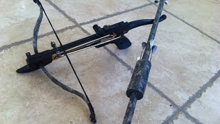 getlinkyoutube.com-Blowgun Vs  Pistol Crossbow
