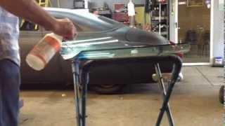 getlinkyoutube.com-Cut windshield chop top custom auto glass how to laminated