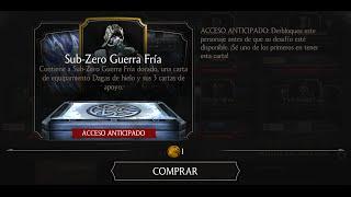 getlinkyoutube.com-Mortal Kombat X Android Early Access Open Pack Sub-Zero Guerra Fria