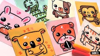 getlinkyoutube.com-How To Draw Cute Animals - Dog, koala, rabbit, cat, monkey, snake and hamster