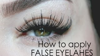 getlinkyoutube.com-How to put on FALSE EYELASHES ♡ in 60 seconds