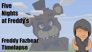 getlinkyoutube.com-Minecraft Freddy Fazbear Pixel Art Timelapse (Five Nights At Freddy's)