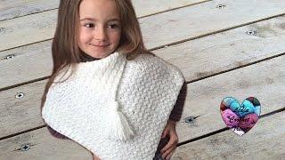 getlinkyoutube.com-Crochet : Poncho très facile débutant / Crochet poncho tejido muy facil