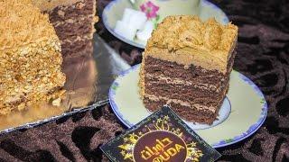 getlinkyoutube.com-حلوى بالكريمة والشوكولاطة ,cake au créme et chocolat | حلويات douda