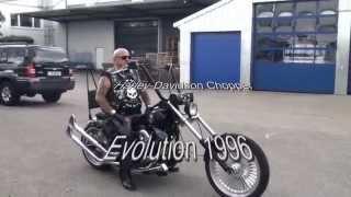 getlinkyoutube.com-Harley  Evolution Chopper - what a sound!