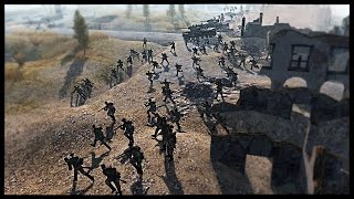 getlinkyoutube.com-Soviet Human Wave Attack - Stalingrad Central Plaza Charge | Men of War Assault Squad 2 Mod Gameplay