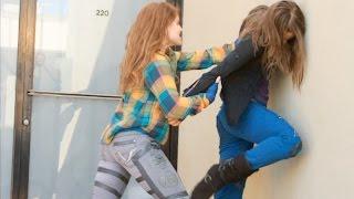 Girl vs Girl Urban Fight Scene