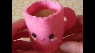 getlinkyoutube.com-How to Make a Cute Coffee Mug From Felt