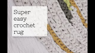 Crochet rug for people that can't crochet width=