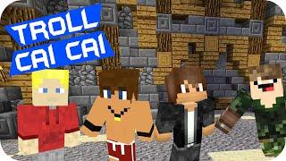 Minecraft: Troll Cai Cai! ft. Febatista e Jvnq