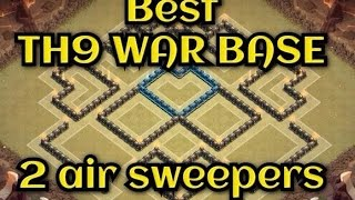 getlinkyoutube.com-Clash of Clans - Town hall 9 TH9 2 Air sweeper Best war base new update - Spees build  + REPLAYS