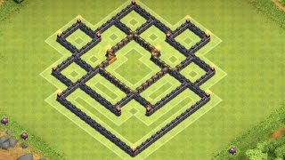 getlinkyoutube.com-Clash of Clans - EPIC Town Hall 7 (TH7) Hybrid Base With Air Sweeper