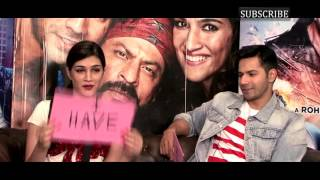 getlinkyoutube.com-Varun Dhawan and Kriti Sanon get candid in a fun game of Never Have I Ever with BollywoodLife