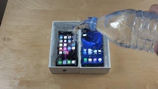 getlinkyoutube.com-iPhone 7 vs. Samsung Galaxy S7 Water Freeze Test 10 Hours! What Will Happen?!