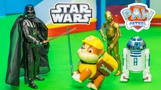 PAW PATROL Nickelodeon Paw Patrol Star Wars Jedi Knight Rubble Toys Video Parody