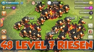 getlinkyoutube.com-RIESEN AUF 7 geGEM´D ++ 48 LVL 7 RIESEN GAMEPLAY | Clash of Clans | xMas Update |