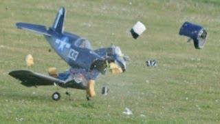 getlinkyoutube.com-RC PLANE CRASH - CM PRO 90 CORSAIR AILERONS REVERSED - MARK