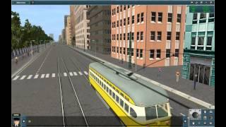 getlinkyoutube.com-Trainz Simulator 2012 Tram in City