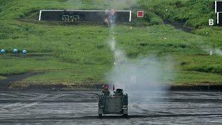 getlinkyoutube.com-【陸上自衛隊】12.7mm重機関銃 実弾射撃 M2 Browning .50 Caliber Heavy machine gun