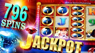 getlinkyoutube.com-BIG JACKPOT!!! 796 SPINS on Quest for Riches - 2c Konami Video Slots