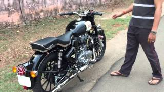 Royal Enfiel Classic 350 With Harley Style Alloy & Indori Silencer